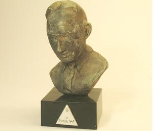 Bill W. AA's co-founder-Bill Wilson, bronze patina