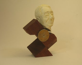 Ellington - Bust of Duke Ellington in hydrostone, antique white finish