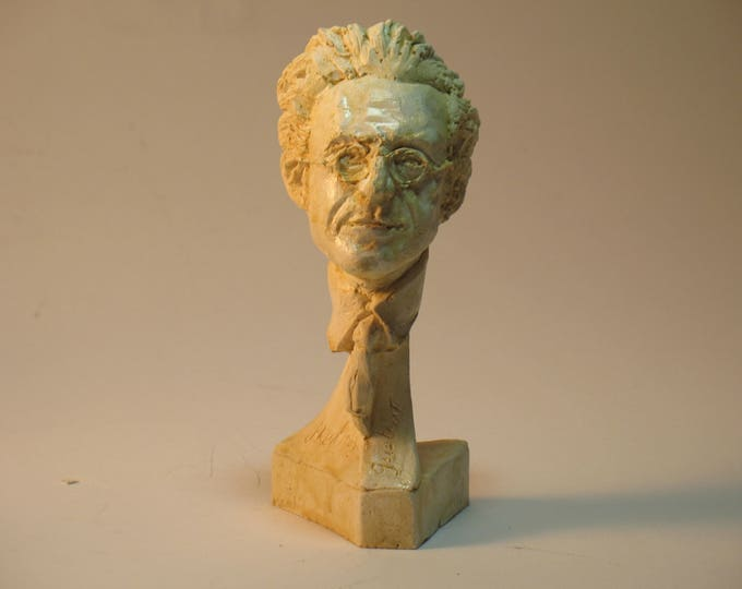 Mahler - bust of Gustav Mahler - hydrocal, white finish