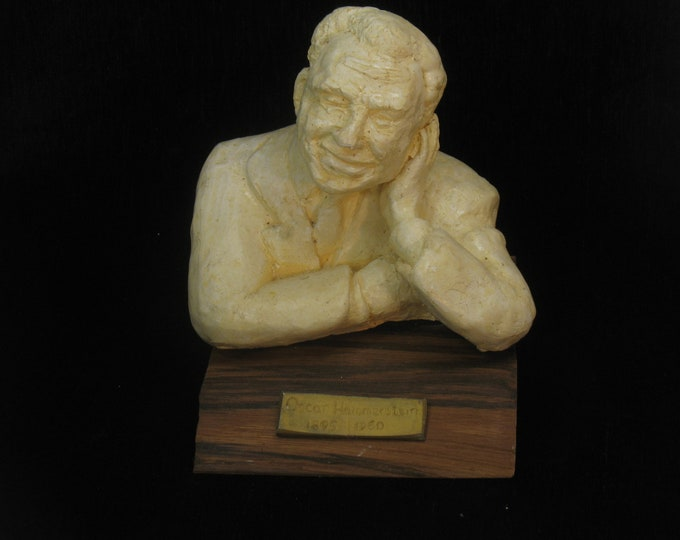 Featured listing image: Hammerstein, Oscar --bust of the great lyricist ! Hydrocal  & wood