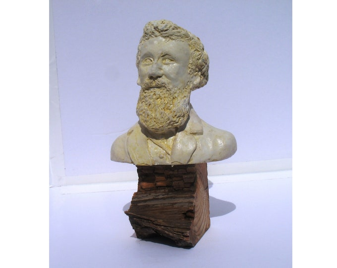Featured listing image: John Muir - Naturalist, Founder of the Sierra Club, antique white finish, hydrostone