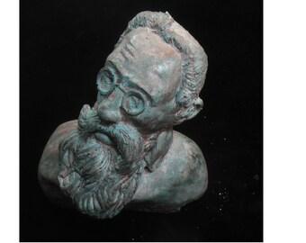 Rimsky-Korsakov, Nikolai - hydrostone statuette in bronze patina