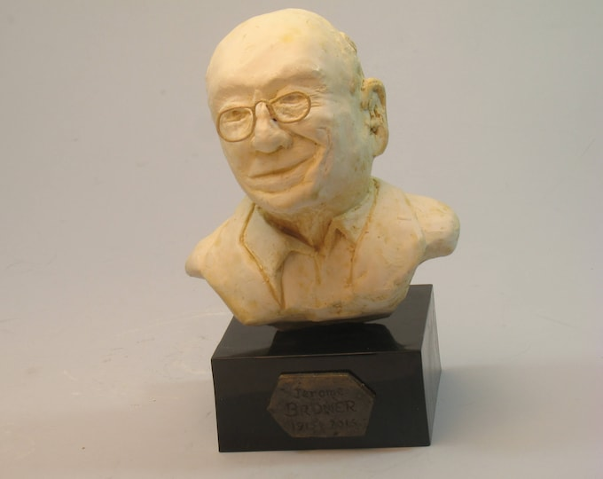 Bruner - Jerome Bruner in antique white hydrostone