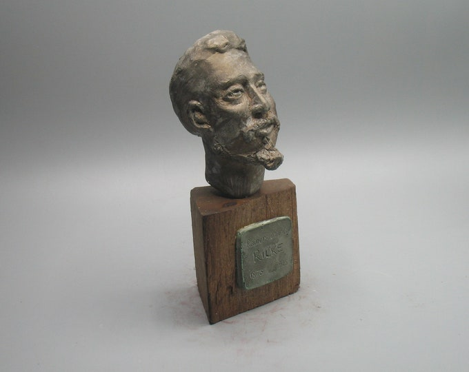 Featured listing image: Rainer Maria Rilke -the young poet - bust in hi-density plaster