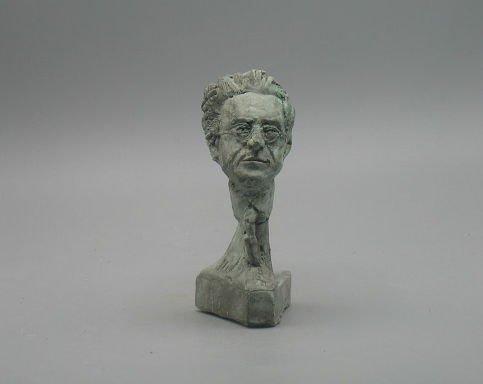 Featured listing image: Mahler - bust of Gustav Mahler - copper/bronze patina