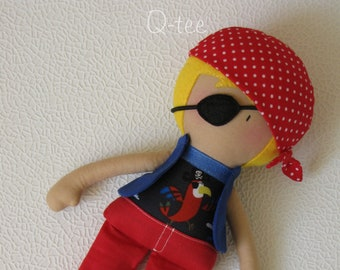 Q-tee pirate rag doll Perry