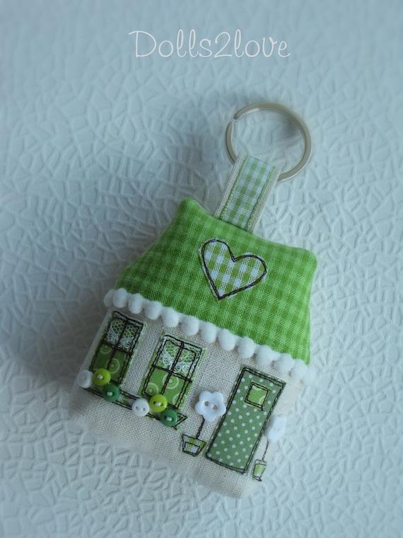 keychain Keyring turquoise cottage key fob
