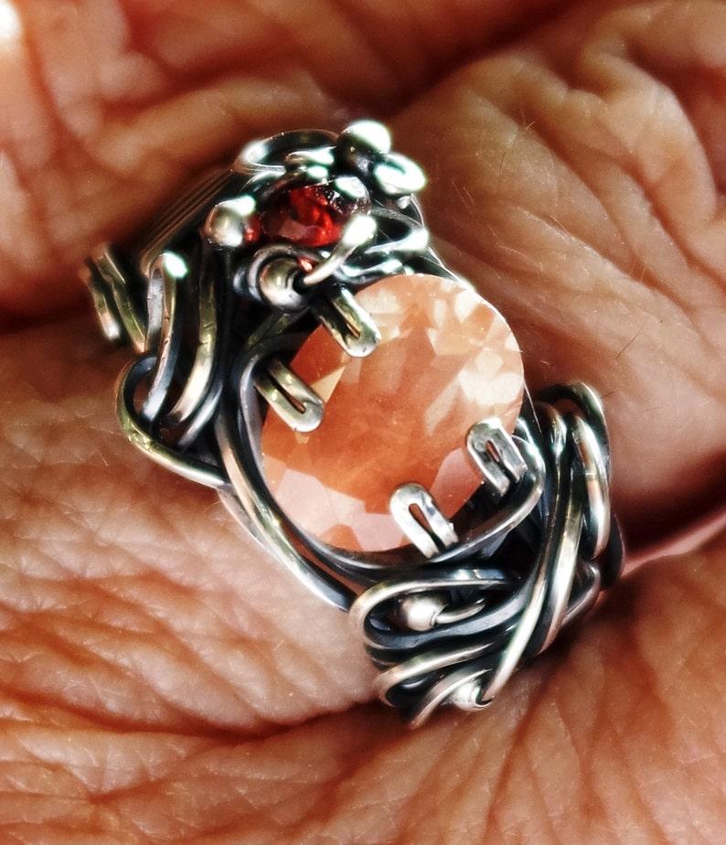 Feldspar Mongolian Sun Shimmer 2 ct.stone is 10mmx8mm image 0