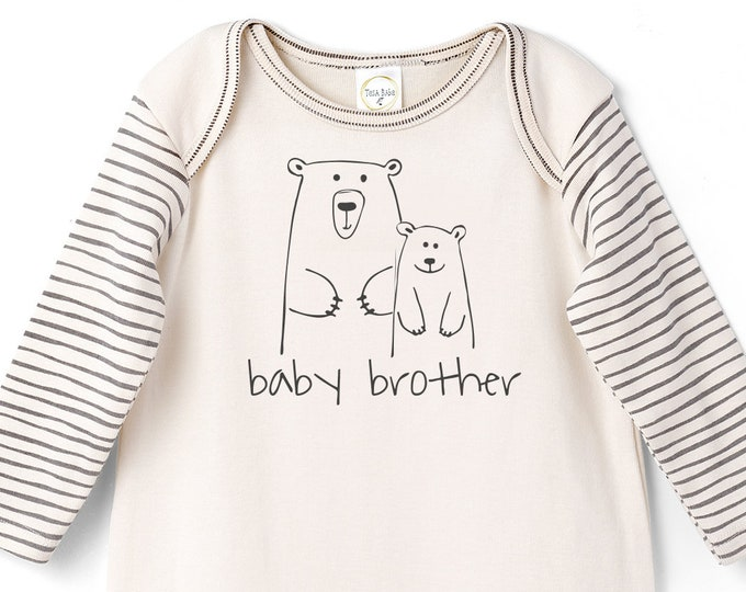Baby Brother Onesie Outfit, Newborn Baby Brother Coming Home, Little Brother Baby Romper, Infant Baby Romper, Take home Bears, Boy Tesa Babe