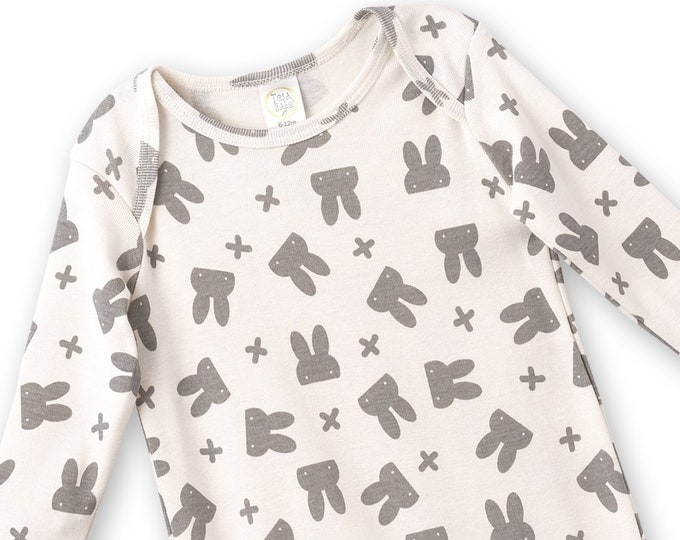 Baby Easter Onesie, Newborn Boy Girl Romper, Infant Unisex Baby Romper, Easter Bunny Outfit, Easter Onesie, White, Tesa Babe