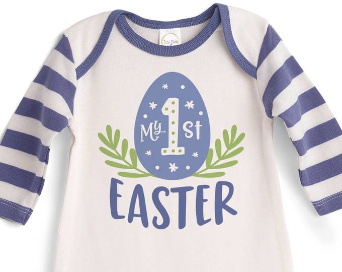 My 1st Easter Baby Boy Outfit, Baby Boy Easter First Bodysuit, Infant Easter Onesie, Newborn Easter Baby Outfit for Boys Tesababe