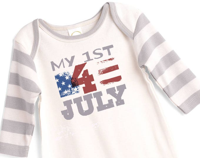 My 1st Fourth July Baby Outfit, 4th of July Baby Onesie, Newborn Boy Outfit July 4, Baby Boy 4th Outfit, Infant 4th July Onesie TesaBabe