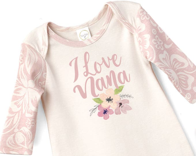 I Love My Nana Baby Romper, Grandma's Baby Girl Outfit, Newborn Baby Girl Coming Home Gift, Baby Girl Take Home Hospital Outfit, Tesa Babe