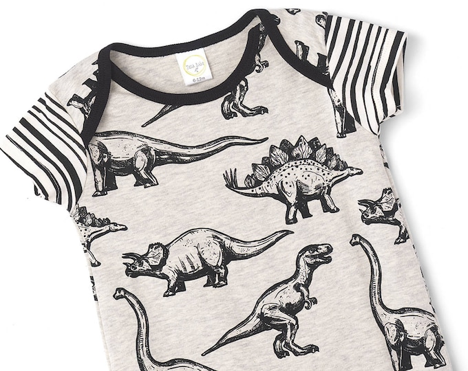 Baby Boy Dinosaur Outfit, Baby Boy Shower Gift, Baby Boy Dinosaur Romper, Infant Boy Bodysuit, Infant Romper Baby Dinosaur Onesie Tesa Babe