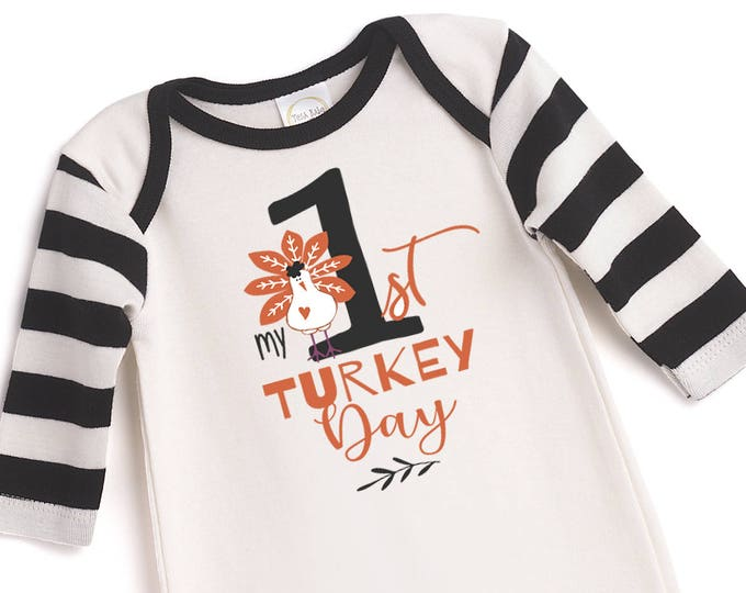 WHOLESALE My 1st Thanksgiving Outfit, Newborn Thanksgiving Romper, Turkey, Baby Boy Girl Bodysuit, My First Thanksgiving Tesababe