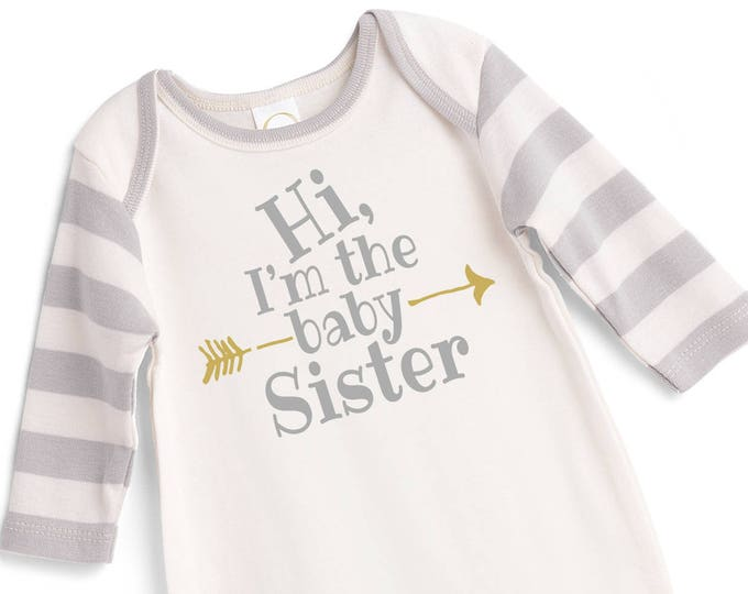 Baby Sister Coming Home Outfit, Baby Sister Hospital Onesy, Newborn Sister Outfit, Baby Girl Take Home Outfit, Baby Little Sister Tesababe