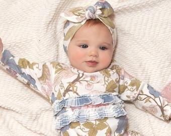 Newborn Girl Purple Headband WHOLESALE BABY CLOTHES Baby Girl Headband Purple Floral TesaBabe Infant Baby Bow Headband Baby Bow