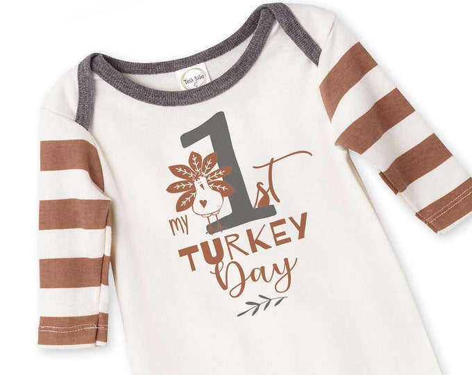 WHOLESALE Thanksgiving Baby Onesie, Newborn Baby Boy Outfit, Baby Boy Turkey Romper, Infant Thanksgiving Baby Romper, Turkey baby, Tesa Babe