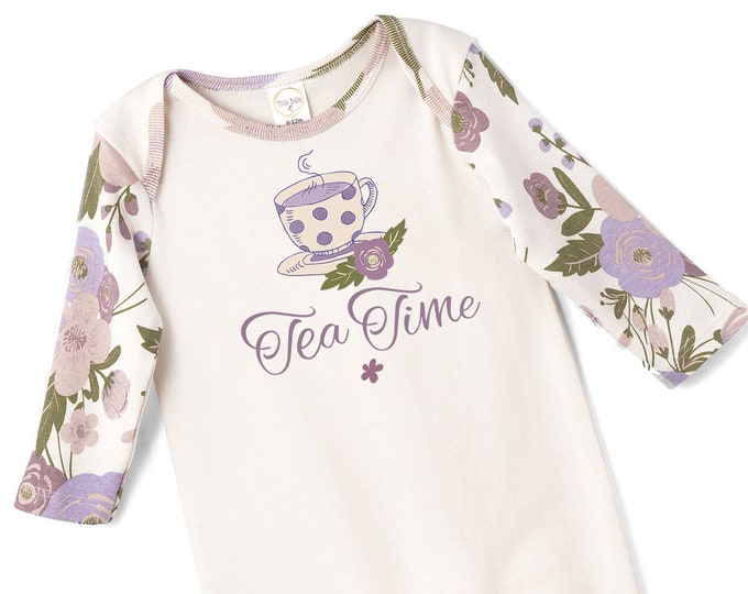Baby Girl Tea Time Onesie Outfit, Newborn Baby Girl Outfit, Tea Time Onesie, Infant Baby Romper, Toddler Tesa Babe SS19-1