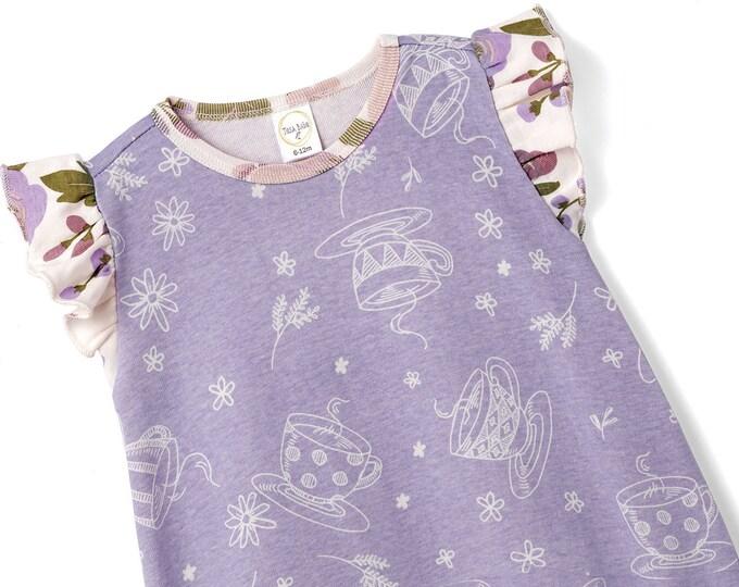 Baby Purple Onesie, Newborn Girl Short Sleeve Romper, Infant Girl Baby Onesie, Flower Girl Spring, Toddler Tesa Babe SS19-2