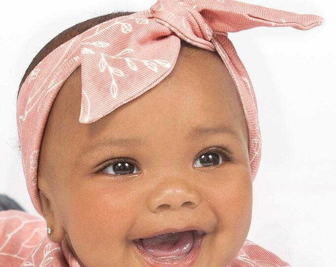 Baby Girl Headband, Newborn Girl Headband, Pink, Infant Baby Bow Headband, Toddler Headband, Toddler Baby Clothes, Newborn, Floral, TesaBabe