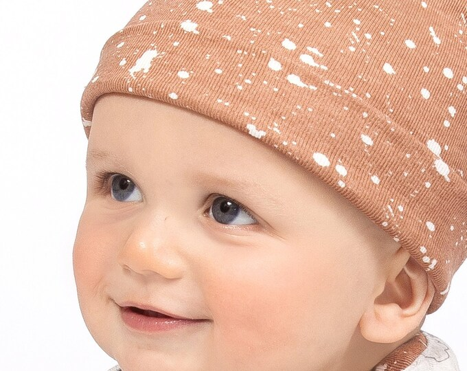 Newborn Baby Hat, Newborn Baby Neutral Hat, Baby Hat Girls, Baby Boy Beanies, Baby Girl Boy Hats Pecan Brown Tesa Babe