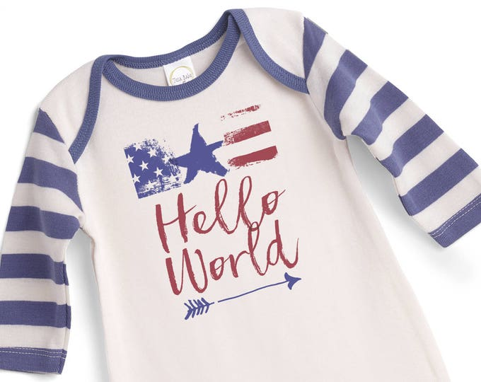 Newborn Baby Fourth of July Outfit, 4th of July Baby Onesie, Newborn Boy Outfit, Baby Boy Outfit, Infant 4th July Onesie TesaBabe