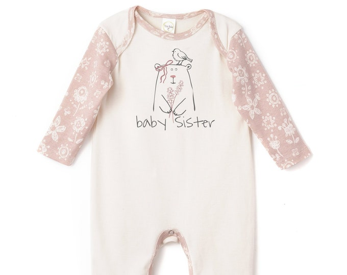 Baby Sister Onesie Outfit, Newborn Baby Sister Onesie, Little Sister Baby Romper, Baby Girl Clothes Sister, Infant Baby Romper, Tesa Babe