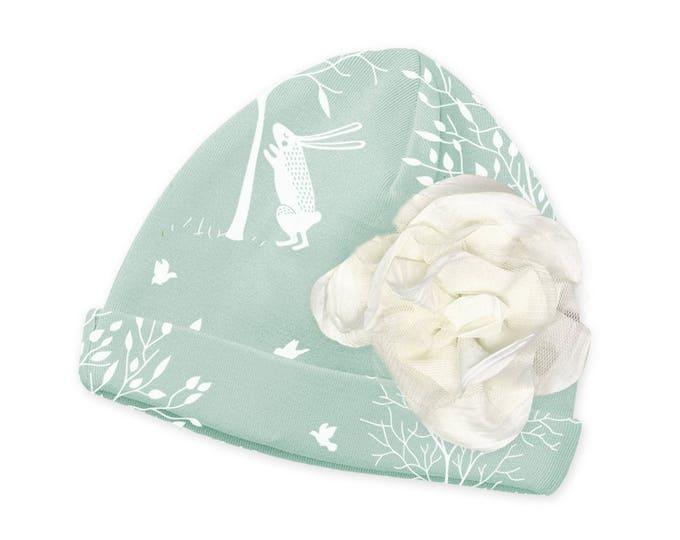 SALE! Newborn Hat, Newborn Baby Hat, Baby Hat Girls, Baby Cap, Baby Beanie, Bunny, Soft Cotton Baby Hats, Baby Bunny Hat Tesababe