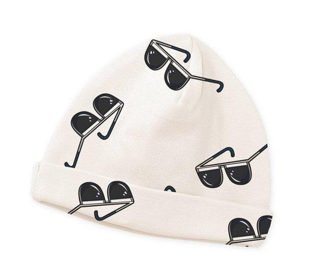 SALE! Newborn Baby Hat, Newborn Minimalist Baby Hat, Baby Sunglasses Hat Boys Girls, Baby Boy Sunglasses Hat, Baby Girl Summer Hat Tesababe