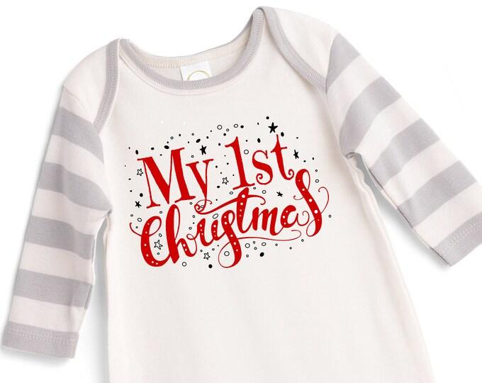 My First Christmas Baby Romper, Newborn Boy 1st Christmas Outfit, Infant Newborn Baby Christmas Onesie, Baby Christmas Romper Tesababe
