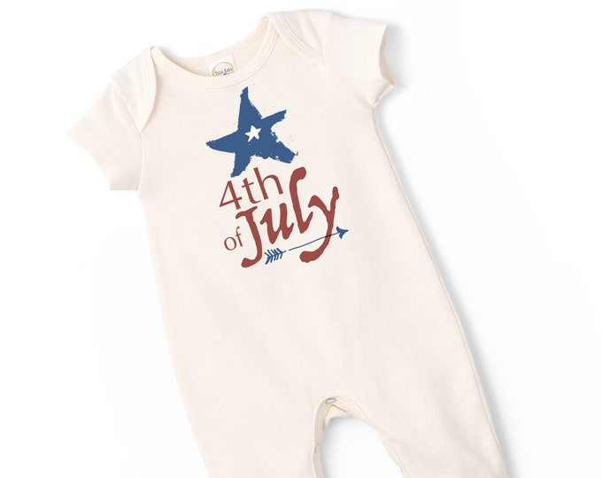 July 4th Baby Outfit, Sleeveless July 4th Baby, 4th July Baby Onesie, Newborn Baby 4th July Outfit, Infant 4th July Onesie, Baby, TesaBabe