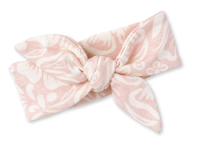 Pink Flower Baby Girl Bow, Floral Pink Baby Girl Headband, Newborn Girl Headband, Pink Floral, TesaBabe