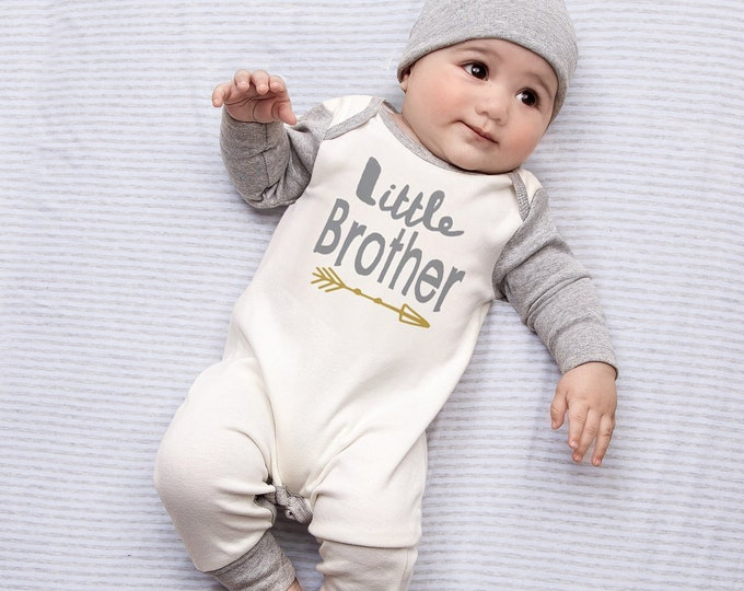 Newborn Boy Coming Home Outfit, Baby Brother, Little Brother, Baby Boy Romper, Coming Home Outfit, Little Brother Outfit, Toddler, Tesa Babe