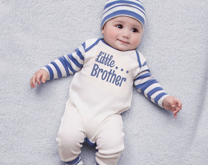 Newborn Boy Coming Home Outfit, Little Brother, Baby Brother, Baby Boy Romper, Coming Home Outfit, Little Brother Outfit, Toddler, Tesa Babe
