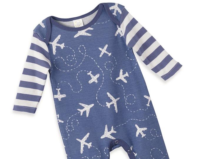 Newborn Boy Coming Home Outfit, Newborn Boy Outfit, Baby Boy Romper, Baby Boy Beanie, Baby Boy Spaceship Airplane TesaBabe