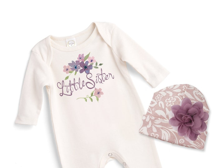 Newborn Girl Coming Home Outfit, Newborn Girl Outfit, Little Sister Outfit,  Baby Sister Romper, Baby Tesa Babe