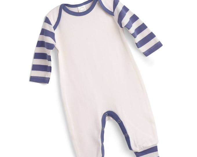 Newborn Boy Coming Home Outfit, Baby Boy Set, Newborn Come Home Outfit Boy, Baby Boy Romper Baby Boy Hat, Blue Stripe TesaBabe