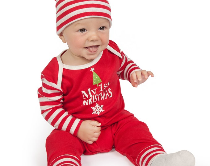 WHOLESALE My First Christmas Baby Romper, Newborn 1st Christmas Outfit, Infant Baby Christmas Onesie, Toddler Christmas Red Romper Tesababe