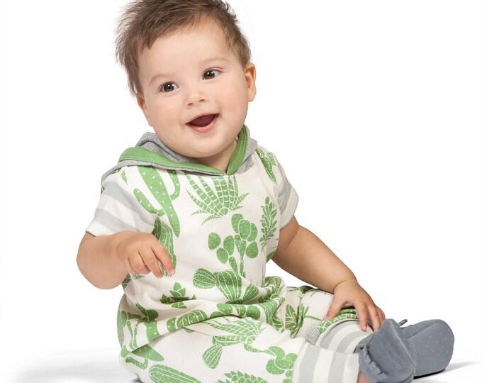 SALE! Baby Boy Hoodie Romper, Baby Hoodie Onesie Romper, Baby Hoodie, Baby Hooded Romper, Cactus Outfit, Tesa Babe