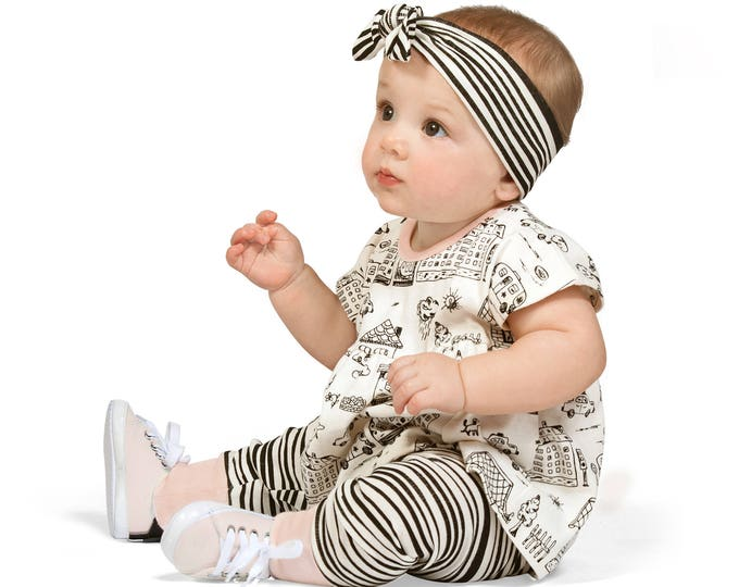 SALE!Baby Girl Outfit, Summer Onesie, Baby Girl Top, Newborn Girl Onesie Outfit, Striped Baby Girl Leggings, Infant Girl Outfit, TesaBabe