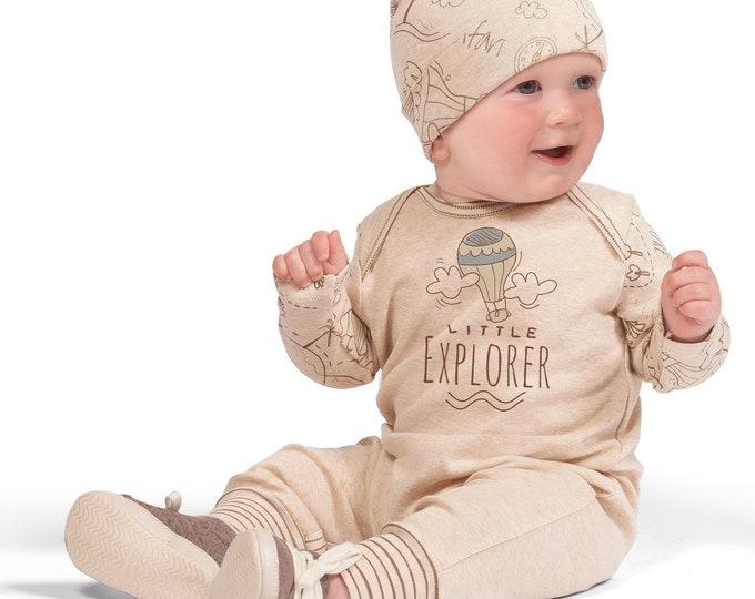 Baby Boy Onesie Explore The World Outfit, Newborn, Baby Boy Adventure Romper, Baby Bodysuit, Infant Explorer Toddler Romper Tesa Babe SS19-5