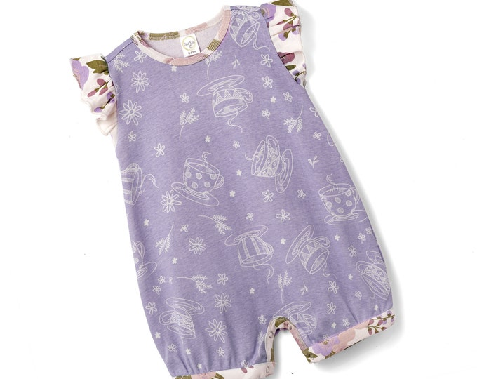 WHOLESALE Ships 1/15/19 Baby Purple Onesie, Newborn Girl Short Sleeve Romper, Infant Girl Baby Onesie, Flower Girl Spring, Toddler Tesa Babe