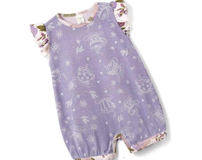 WHOLESALE Baby Purple Onesie Outfit, Newborn Girl Short Sleeve Romper, Infant Girl Baby Romper, Flower Girl Outfit, Toddler, Tesa Babe