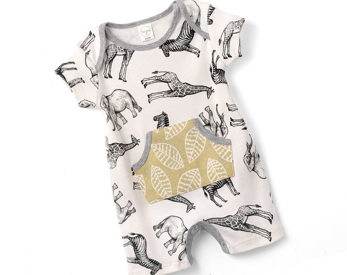 WHOLESALE Ships 1/20/19, Baby Boy Onesie Animal, Newborn Baby Boy, Baby Boy Romper, Baby Boy Bodysuit, Infant Baby Romper, Animals Tesa Babe