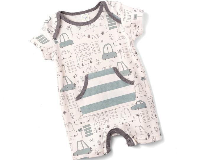 Baby Boy Onesie Cars, Newborn Baby Boy Romper, Baby Boy Cars Romper, Baby Gray Bodysuit, Infant Cars Baby Tesa Babe SS19-7