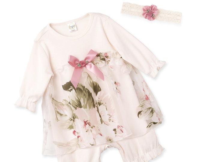 Baby Flower Girl Lace Dress Romper, Newborn Girl Lace Outfit, Baby Flower Girl Lace Dress, Baby Girl Christening Dress Headband, Tesa Babe