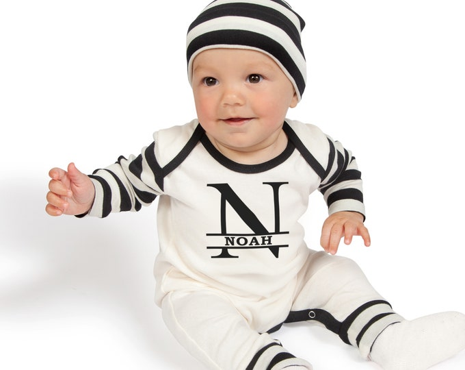 c904c85f13f Personalized Newborn Boy Coming Home Outfit