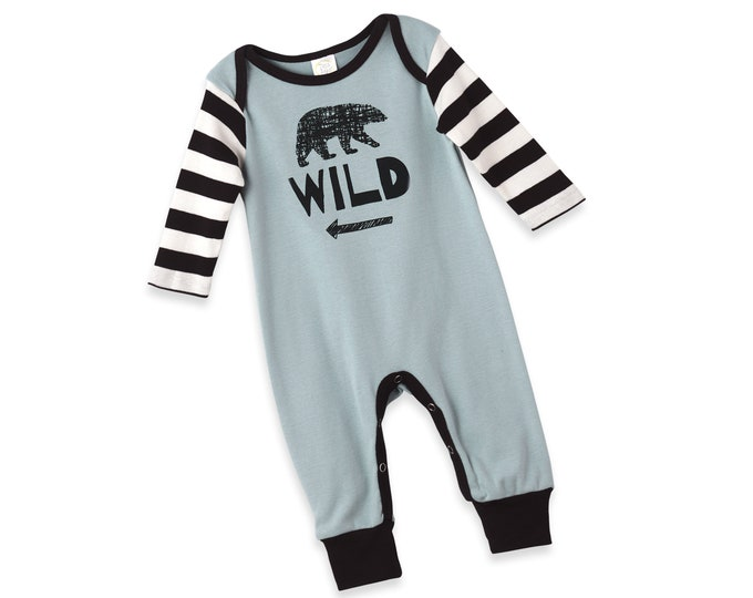 Baby Boy Onesie, Newborn Baby Boy Outfit, Infant Romper, Fall, Bear, Winter Baby Clothes, Baby Boy Bodysuit, Infant Bear Outfit, Tesa Babe