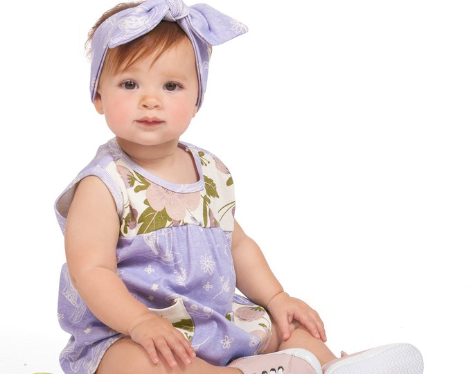 Baby Girl Dress, Flower Girl Baby Dress, Short Sleeve Dress, Toddler Girl Purple Spring Baby Clothes 3 6 9 12 18 24 Month Tesa Babe SS19-2